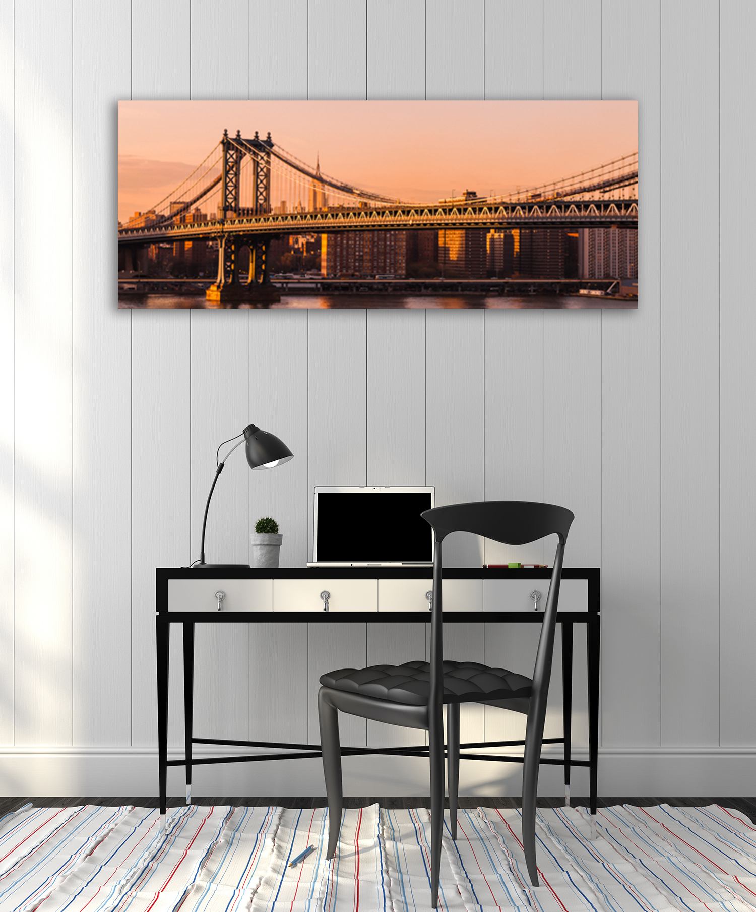 Panoramic Art Print Orange