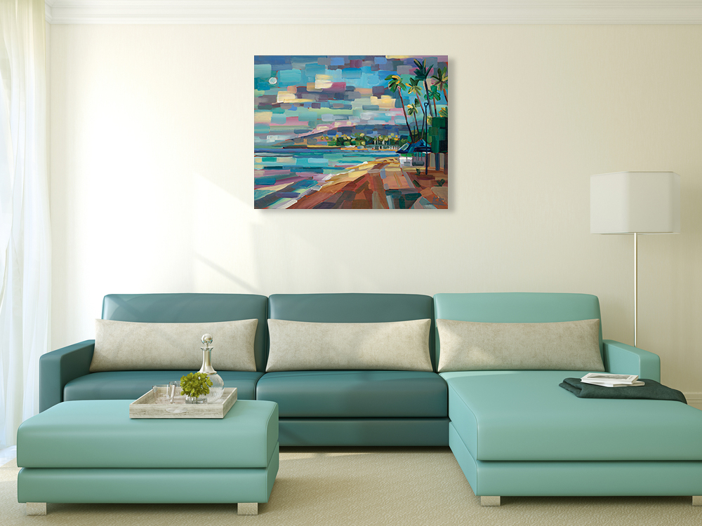 Landscape Cubism Wall Art Print