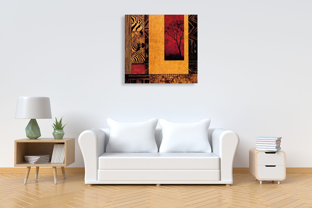 Square African Wall Art on Canvas