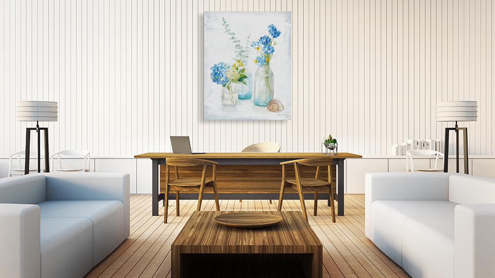 Living Room Floral Wall Print