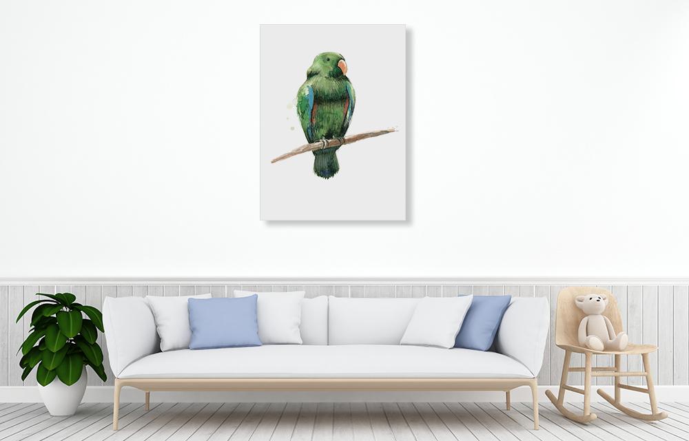 Green Canvas Wall Art Print