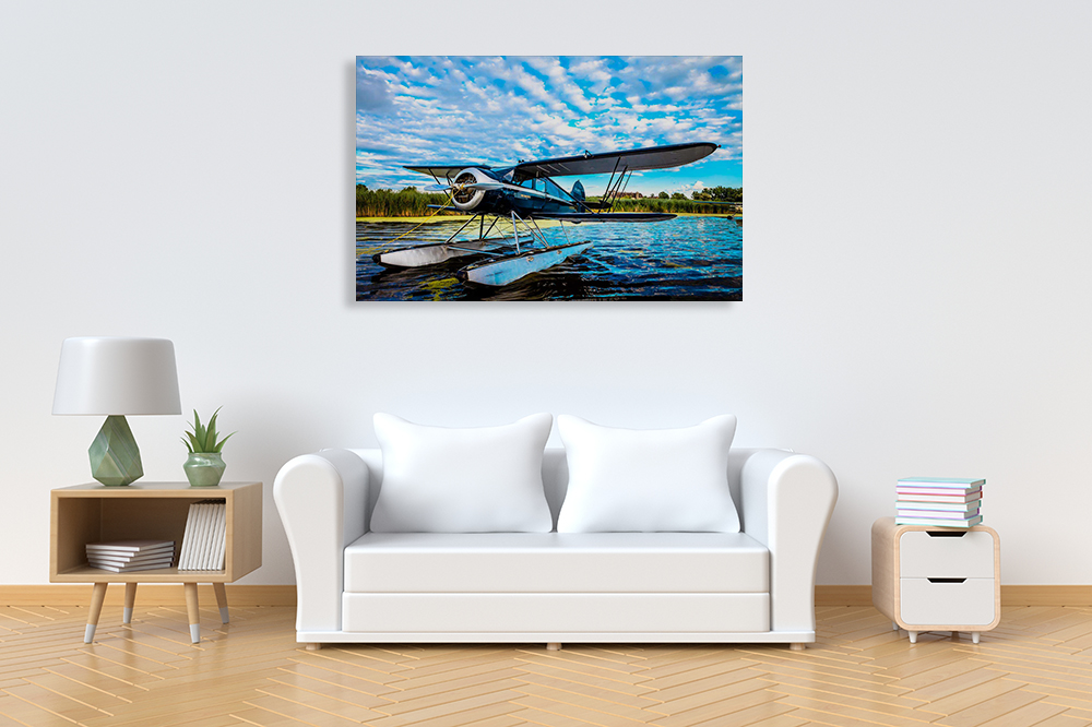 Blue Art Print on Canvas