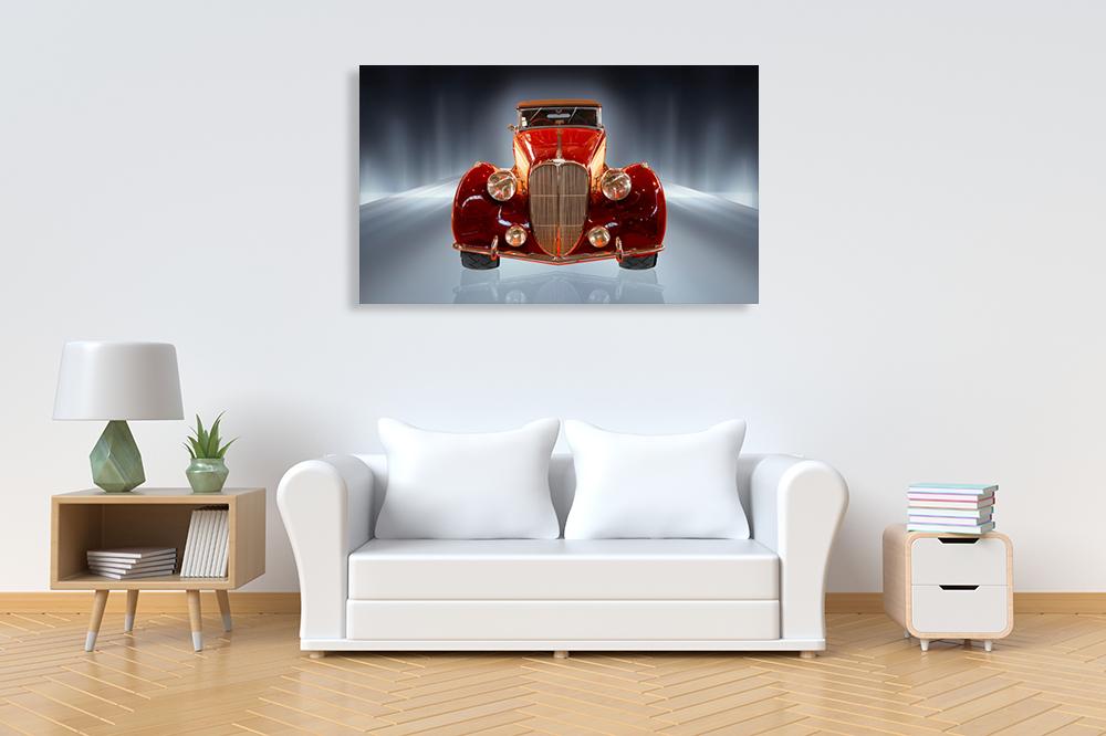 Online Art Print Red Car