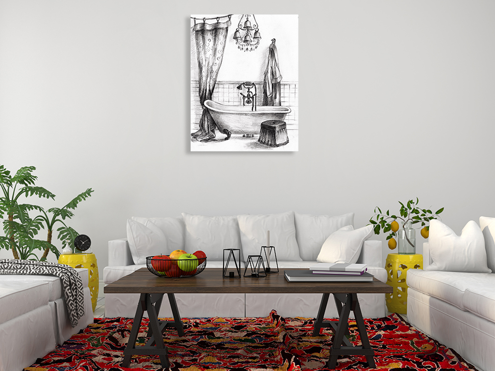 Portrait Black and White Wall Art on Canvas