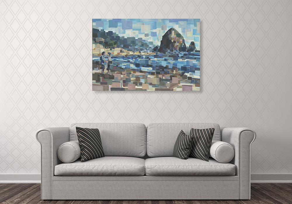 Square Cubism Wall Art Print