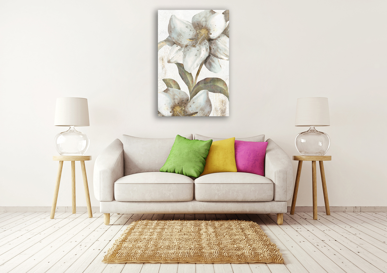 Portrait Floral Wall Art on Canvas