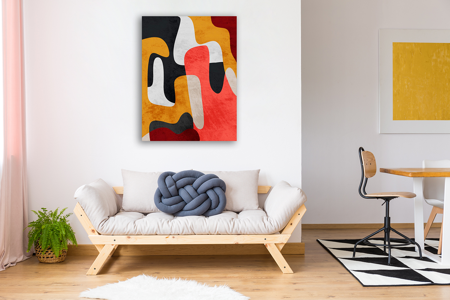Portrait Abstract Wall Art on Canvas