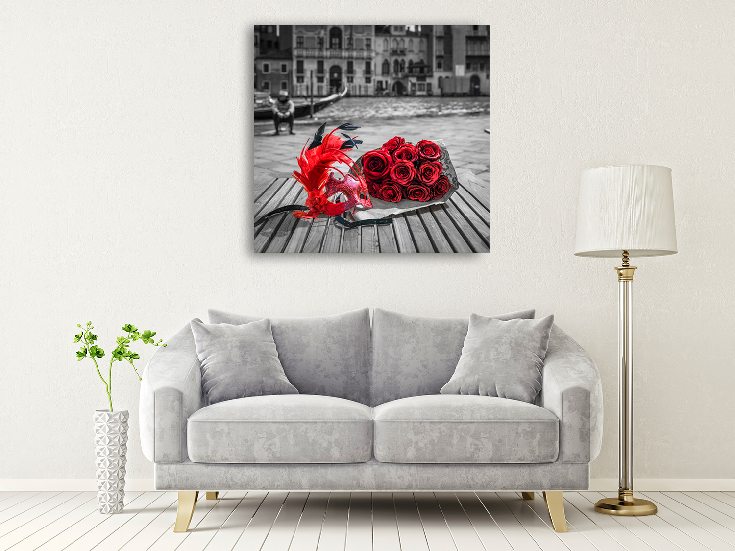 Square Venice Wall Art on Canvas