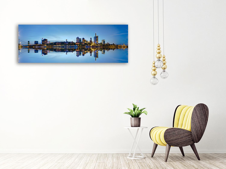 Blue Panoramic Canvas Art Print