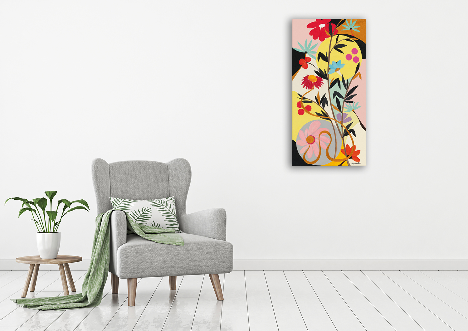 Panoramic Floral Wall Art on Canvas