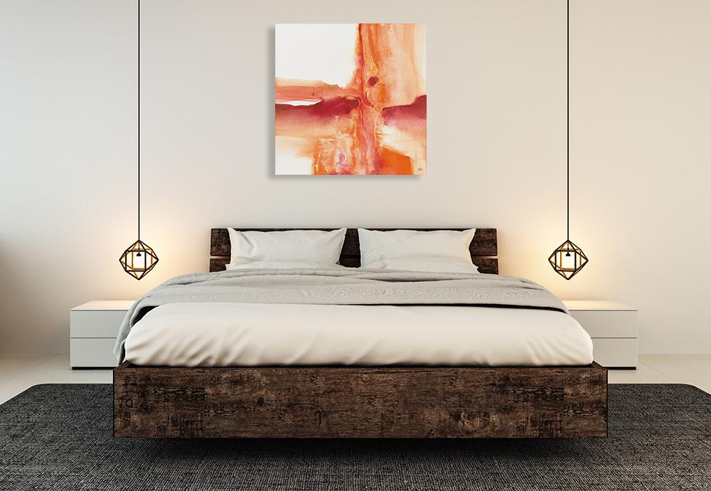 Orange Abstract Wall Print