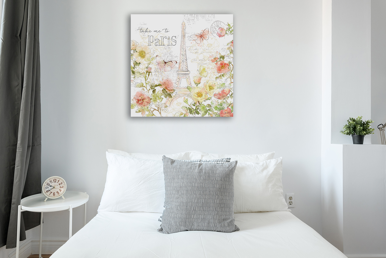 Square Cosmos and Palms Wall Art Print