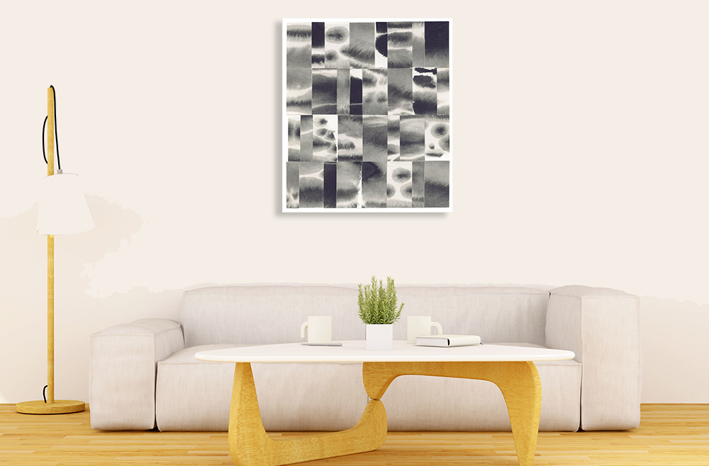 Black and White Wall Art Print on Canvas