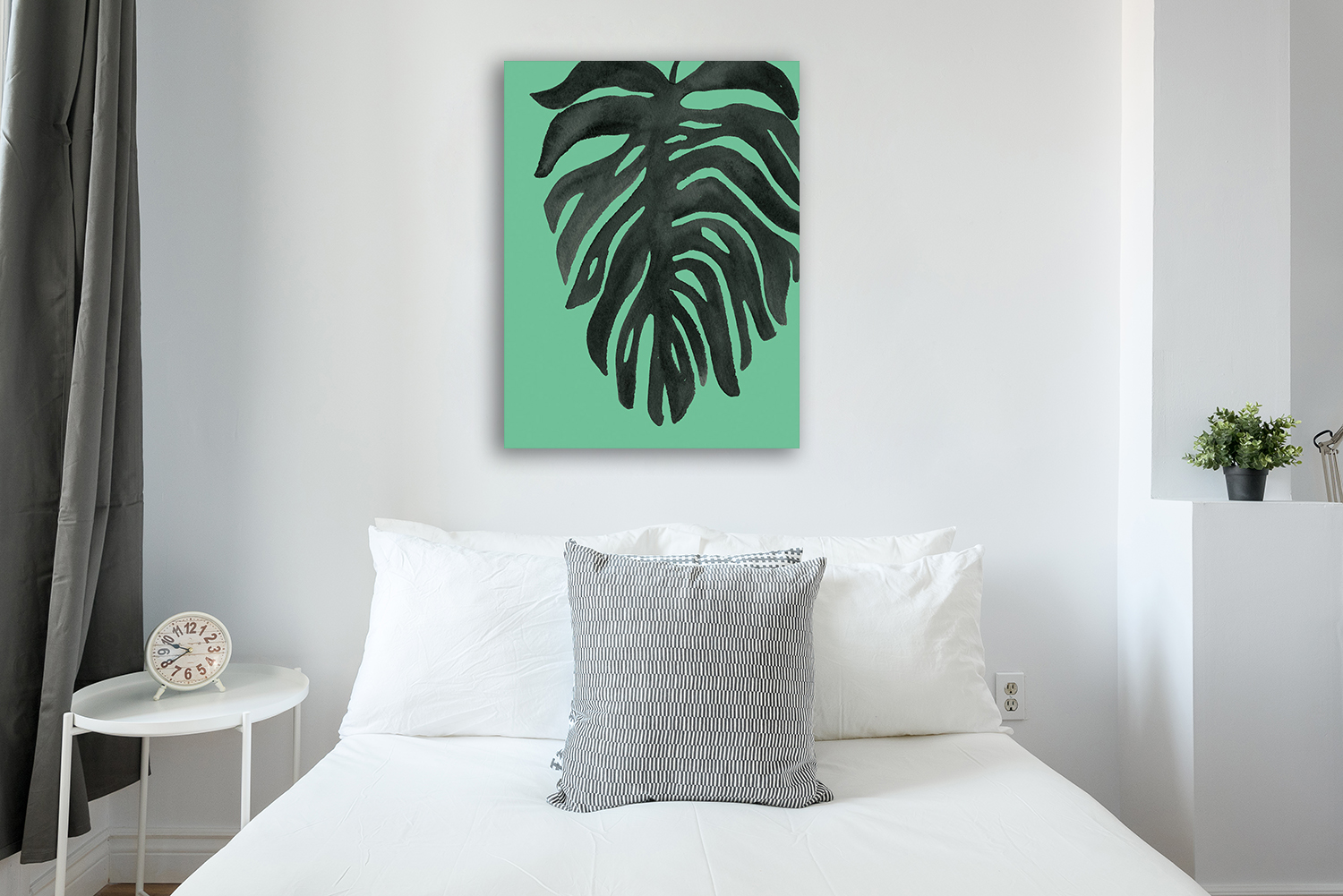 Portrait Cosmos and Palms Wall Print