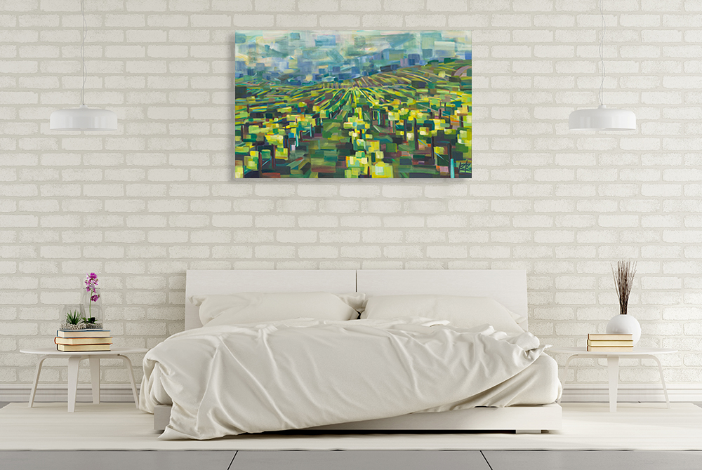 Landscape Cubism Wall Art Print on Canvas