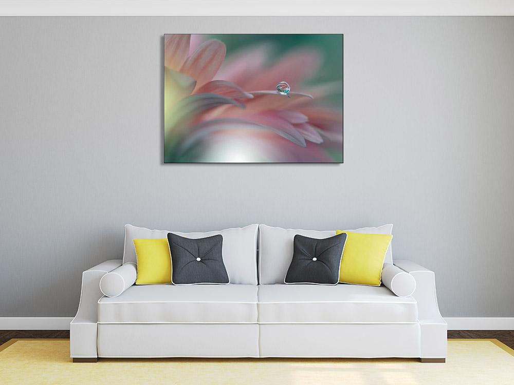 Canvas Print Pink Floral Art