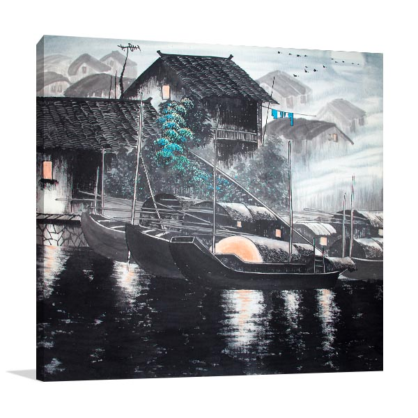 Water House Canvas Prints