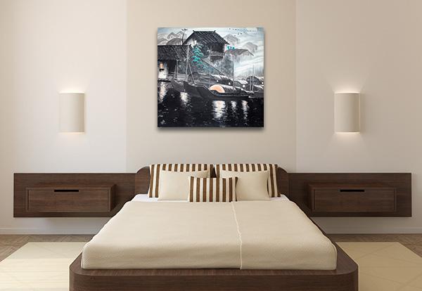 Water House Print Artwork