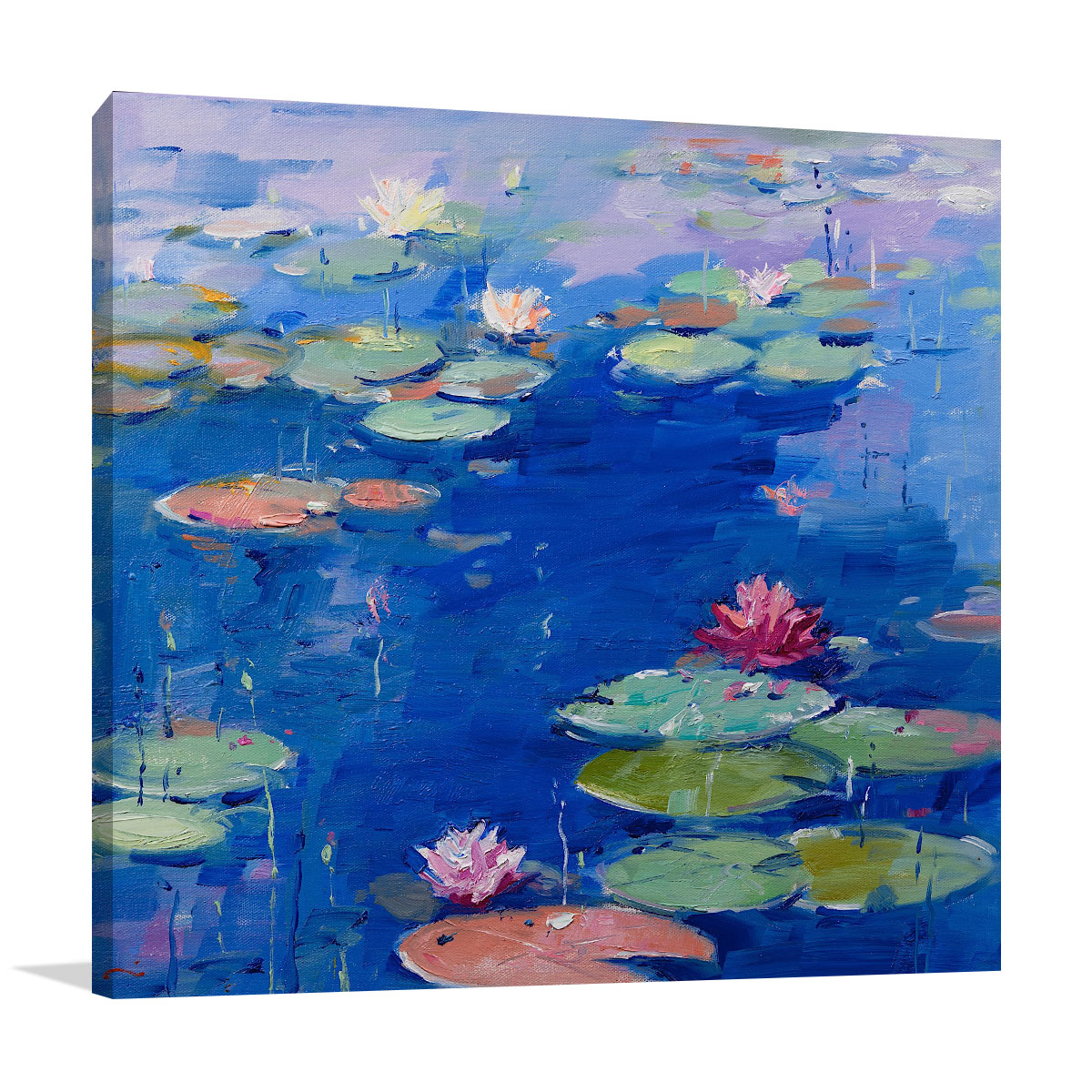 Li Zhou Paintings | Water Lily VII | Prints on Canvas