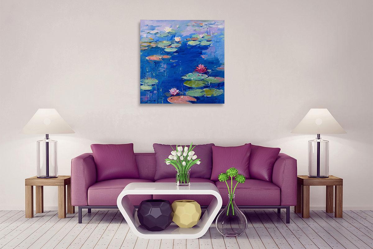 Li Zhou Arts | Water Lily VII Print | Painting on Canvas
