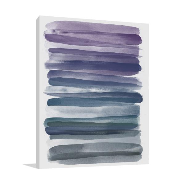 Watercolor Stripes Wall Print