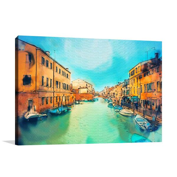 Watercolour Building in Venice Artwork