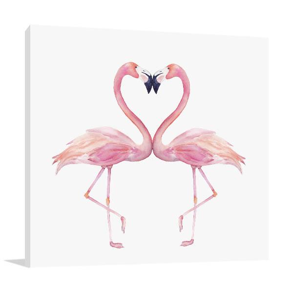 Watercolour Flamingos Canvas Prints