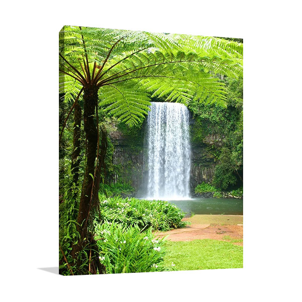 Waterfall Over Cliff Print on Canvas