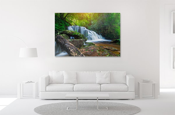 Waterfalls Forest Artwork
