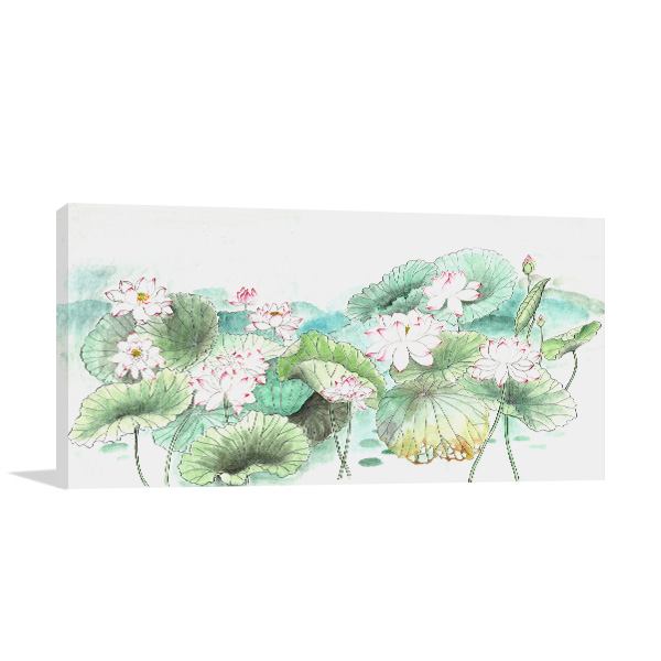 Waterlily Sketches Canvas Art Prints