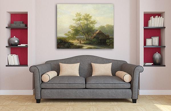 Waterwheel Canvas Prints