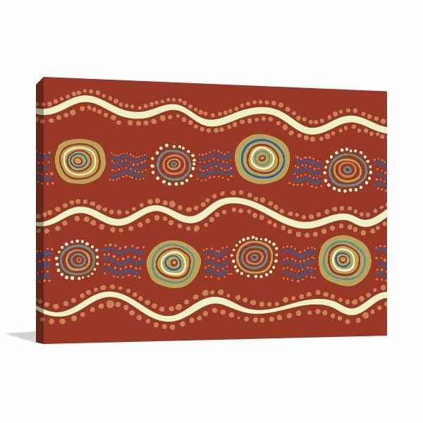 Wavey Aboriginal Art Prints