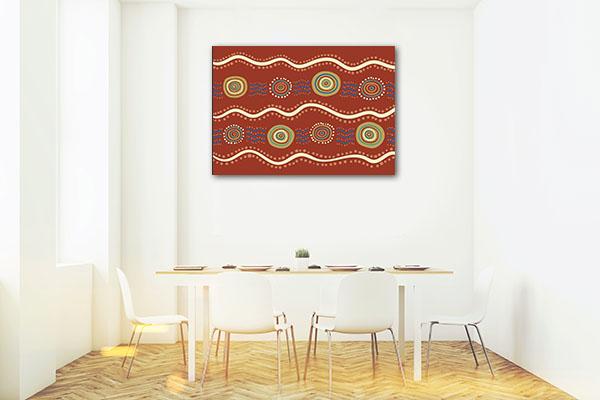 Wavey Aboriginal Artwork