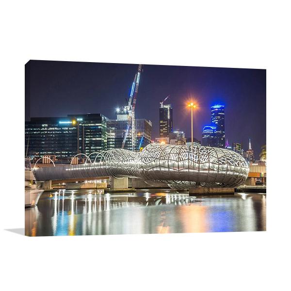 Webb Bridge at Melbourne Print