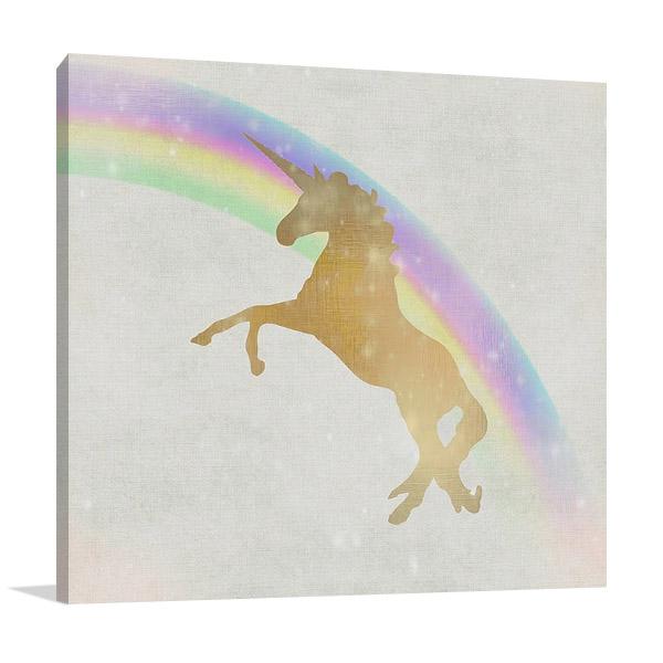 Whimsical Unicorn II Art Print