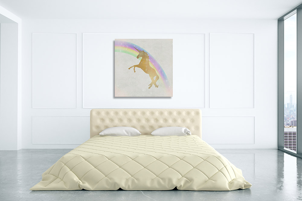 Unicorn Wall Art Print on Canvas