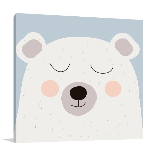 White Bear Canvas Art Prints