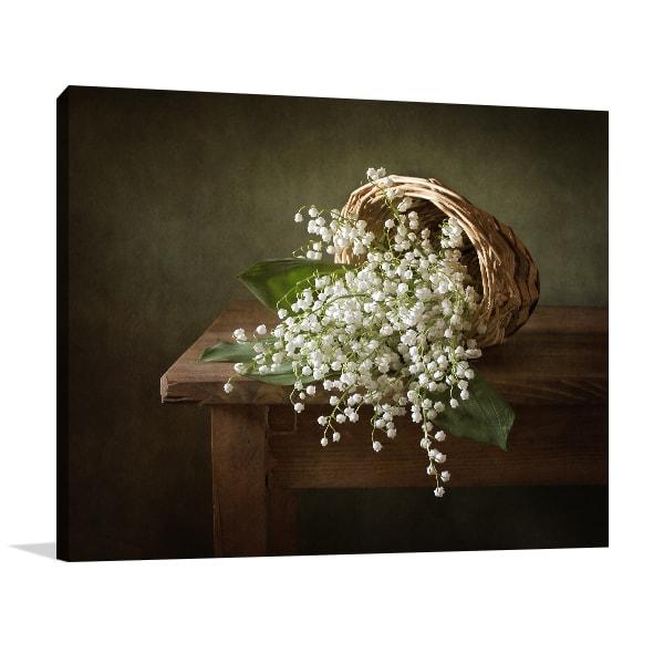 White Flowers Canvas Prints