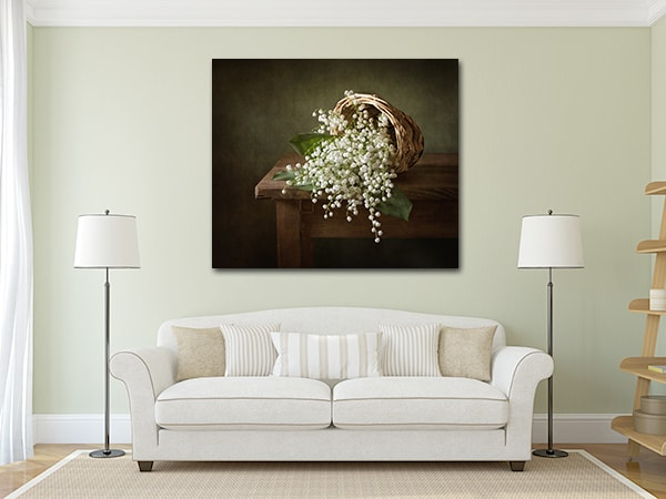 White Flowers Artwork on the Wall