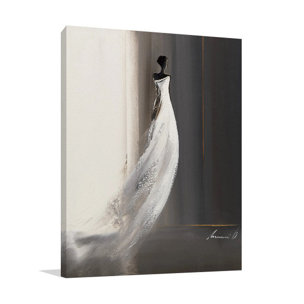 White Long Dress I Print on Canvas