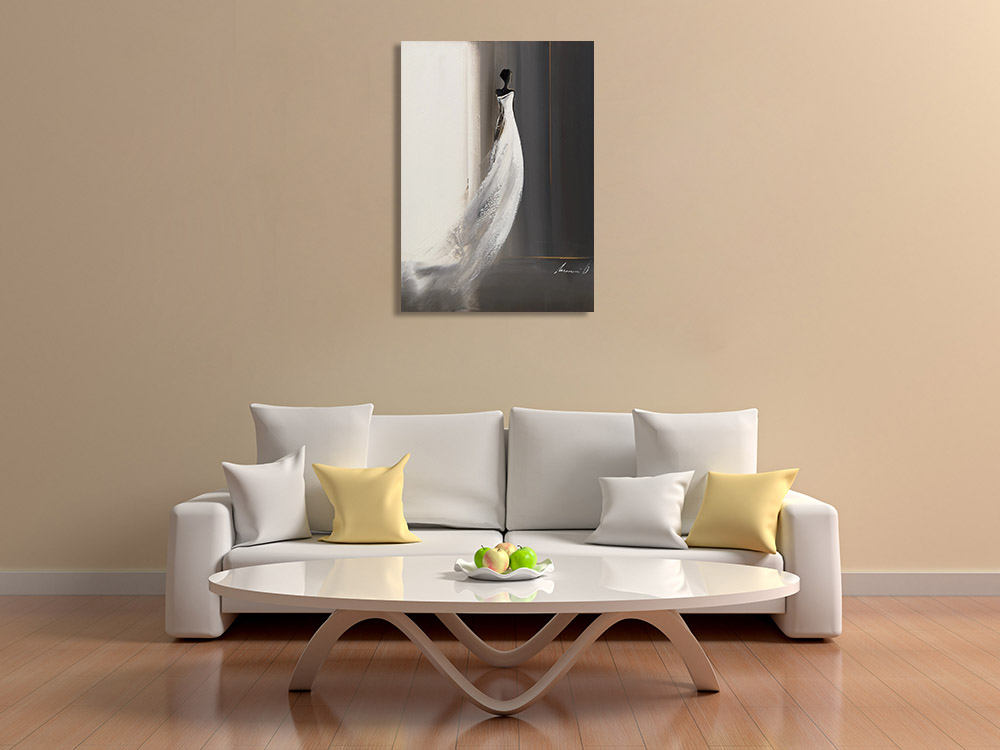 Black and White Print on Canvas