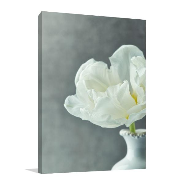 White Tulip Print Artwork