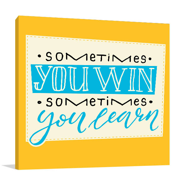 Win and Learn Canvas Art