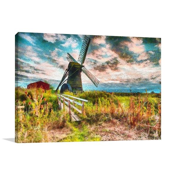 Windmill Canvas Art Prints