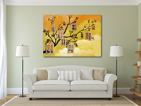 Windows in Branches Art Print on the Wall