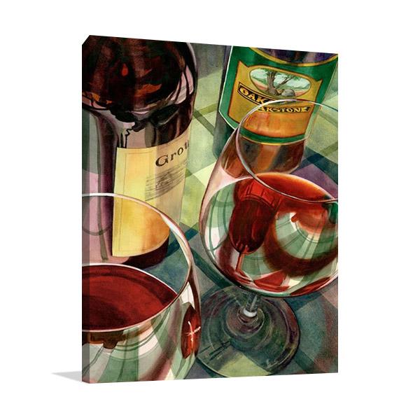 Wine Tasting Wall Art Print