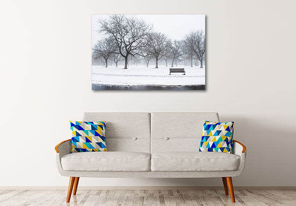 Winter At The Park Print Artwork
