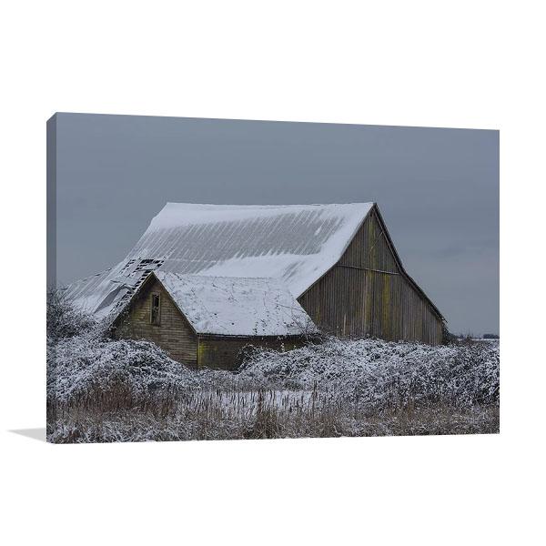 Winter Barn Print | Nancy Crowell