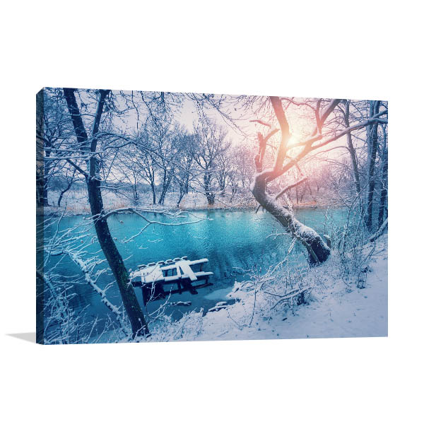 Winter Forest Canvas Art Prints