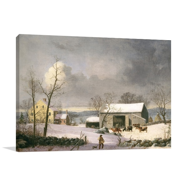Winter in the Country Art Prints